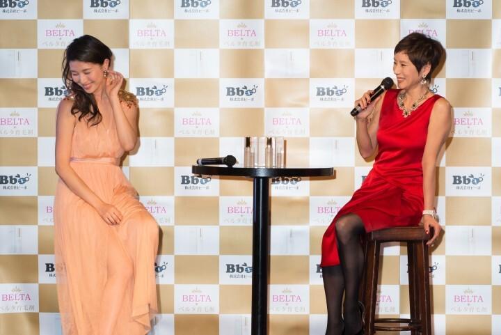 株式会社ビーボのプレスリリース画像7 ベルタ育毛剤の新発売記者会見に女優の秋野暢子、グラビアアイ