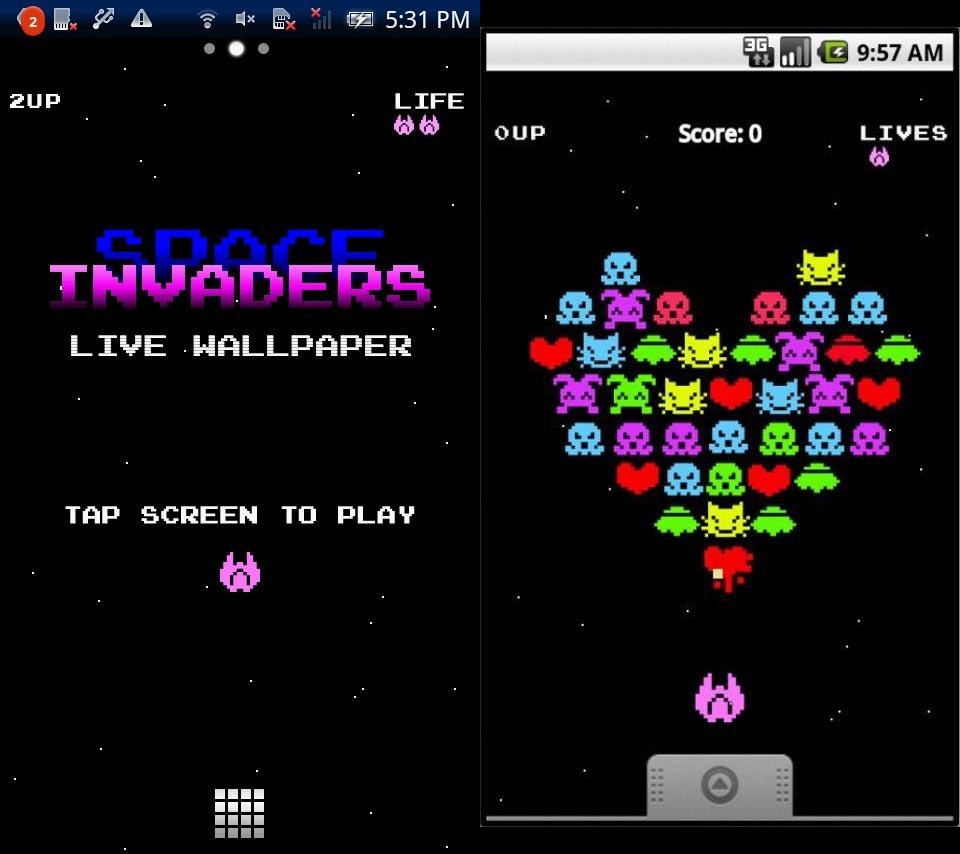 世界初 ゲーム機能付きandroid アンドロイド ライブ壁紙アプリ